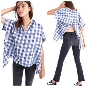 Madewell Plaid Button-Down, Open Back Top